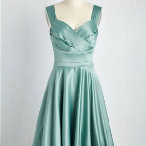 ModCloth Sage Green Formal Dress